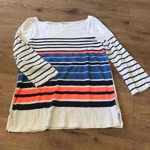 Striped Long-Sleeve JCrew Shirt